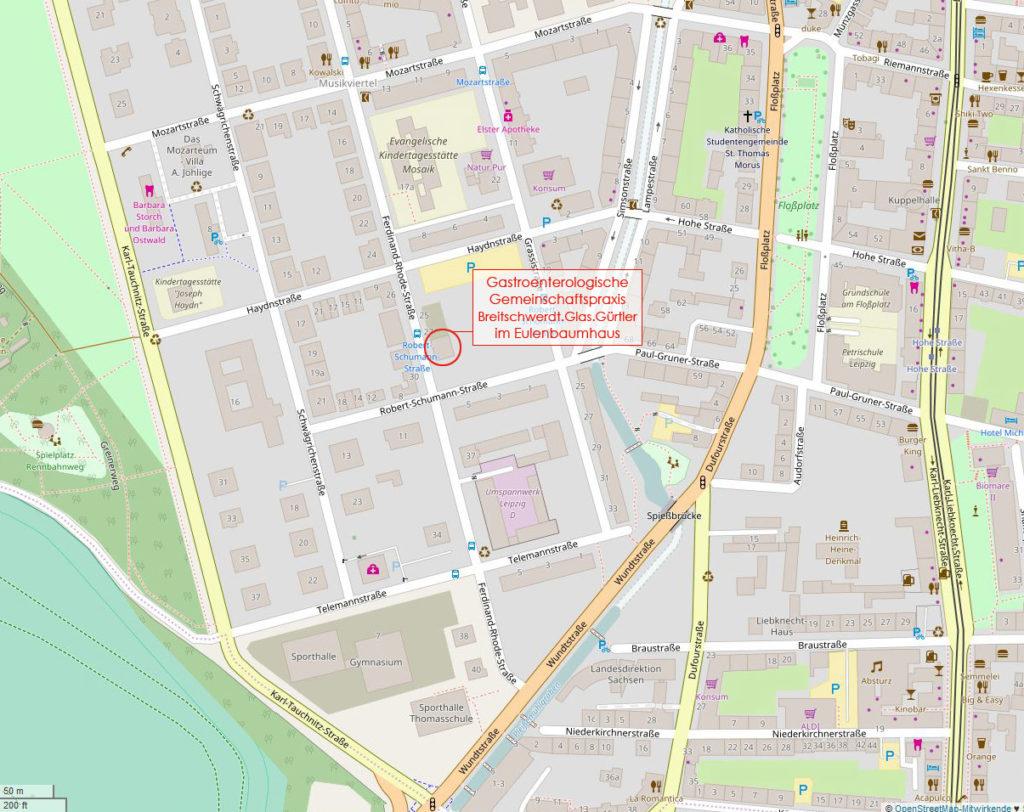 OpenStreetMap Lageplan für den ersten Überblick